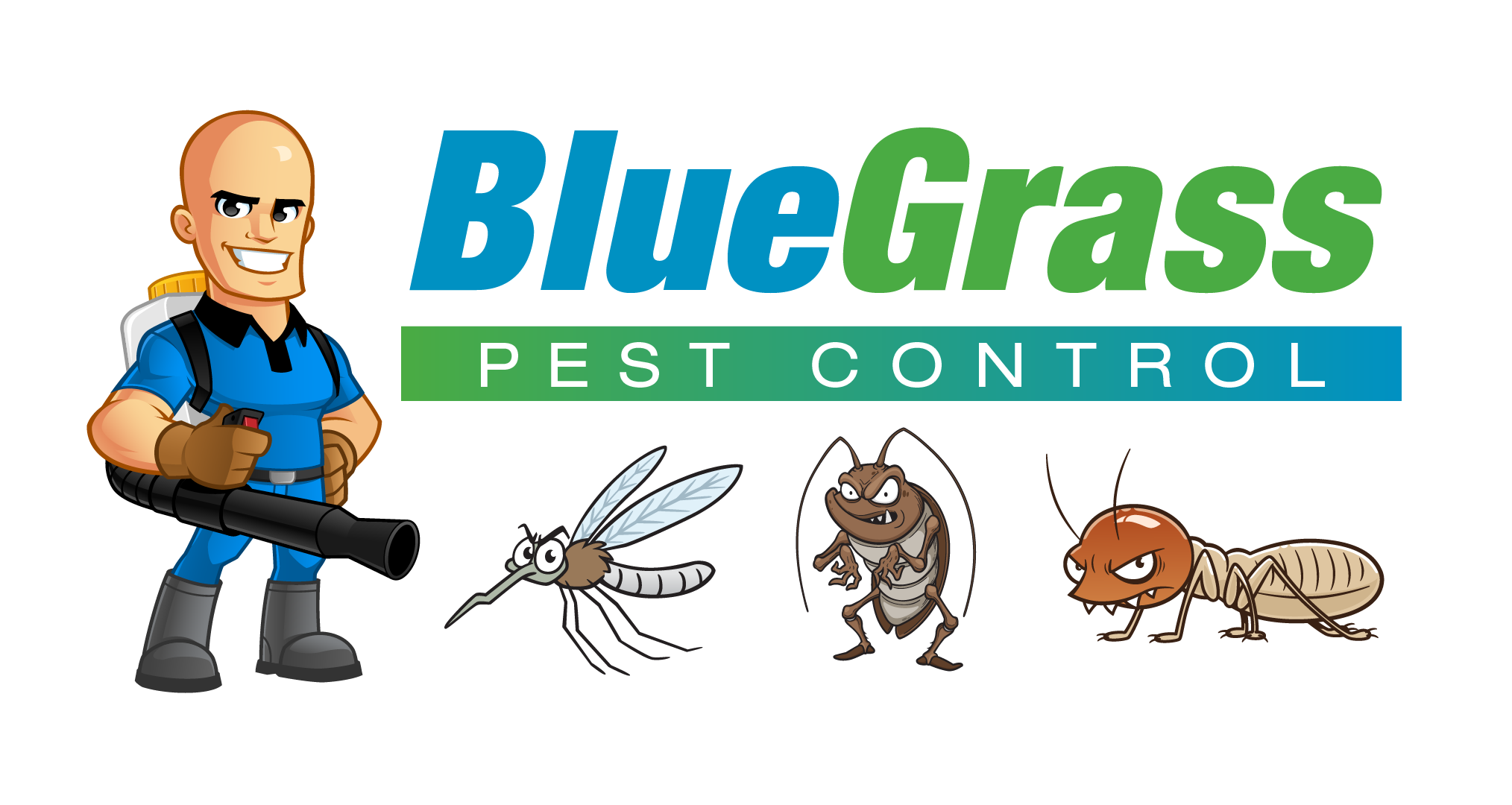 Blue Grass Lawns, Lawn Fertilization, Weed Control, Insect Control, and Perimeter Pest Control